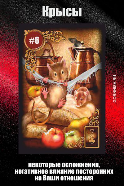 Карта #6 - Крысы - GORNNISA.RU