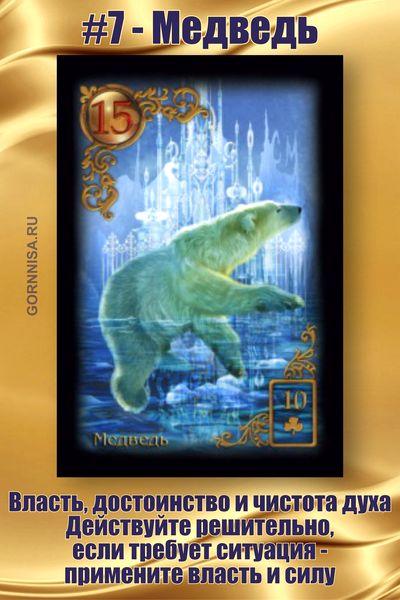 Карта #7 - Медведь - https://gornnisa.ru/