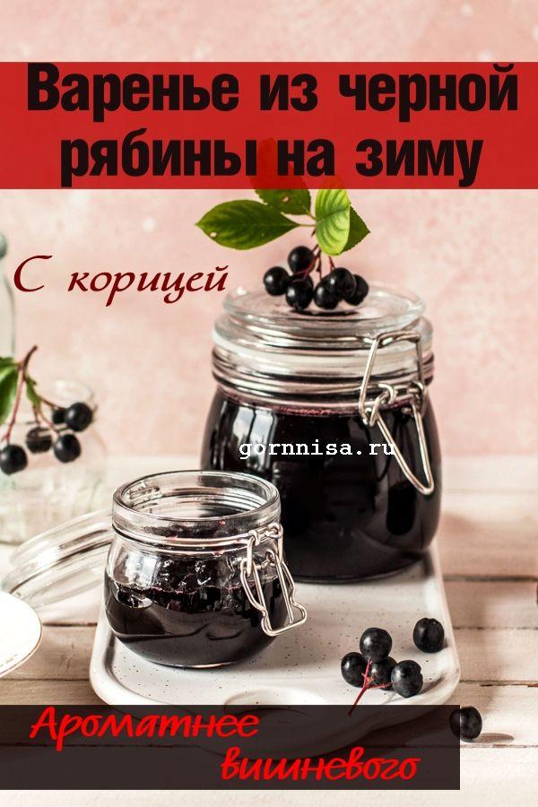 Варенье из аронии на зиму. Ароматное и не закисает. https://gornnisa.ru/