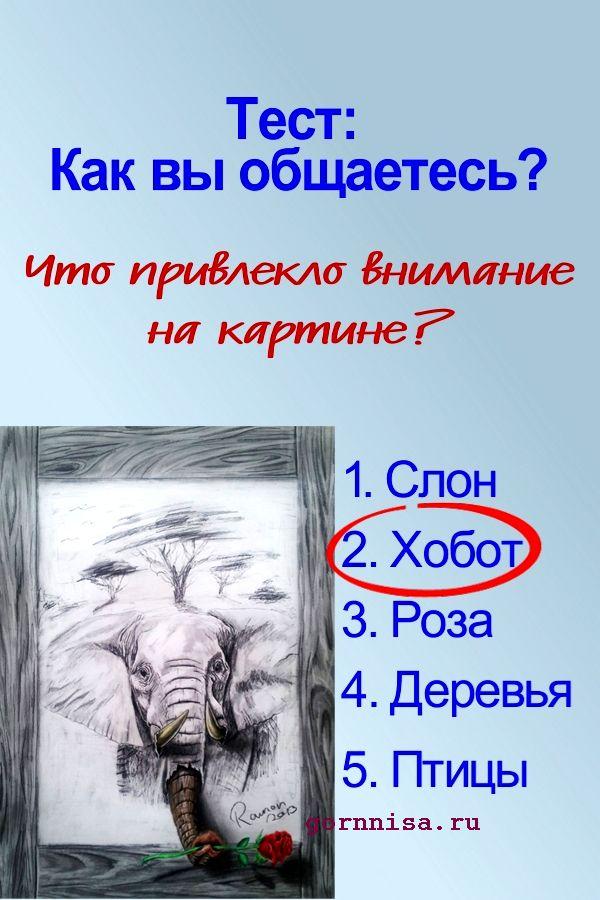 Тест: Как вы общаетесь? https://gornnisa.ru