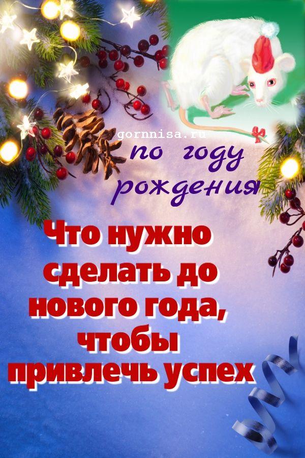 Что нужно сделать до нового года, чтобы привлечь успех. По году рождения https://gornnisa.ru/