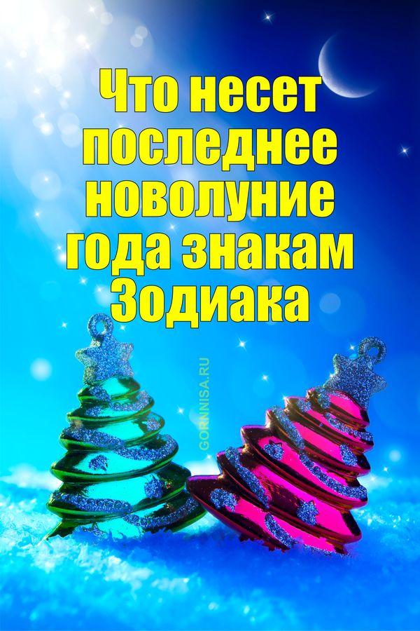 Что несет последнее новолуние года знакам Зодиака - gornnisa.ru