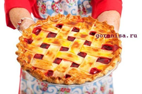 Пирог с вишней решеткой https://gornnisa.ru/wp