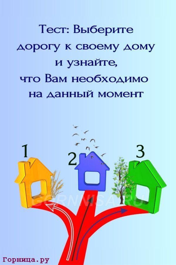 Тест - Выберите дорогу к своему дому и узнайте, что Вам сейчас необходимо - https://gornnisa.ru/