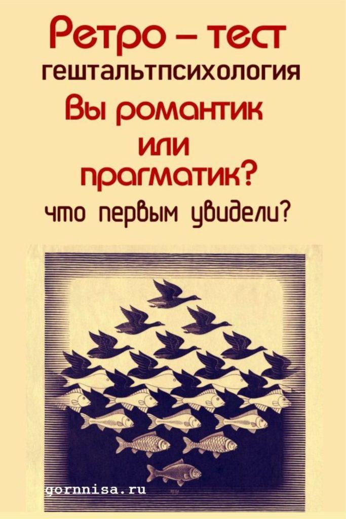 Ретро тест - Вы романтик или прагматик - https://gornnisa.ru/