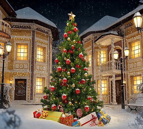 Новогодняя елка в городе