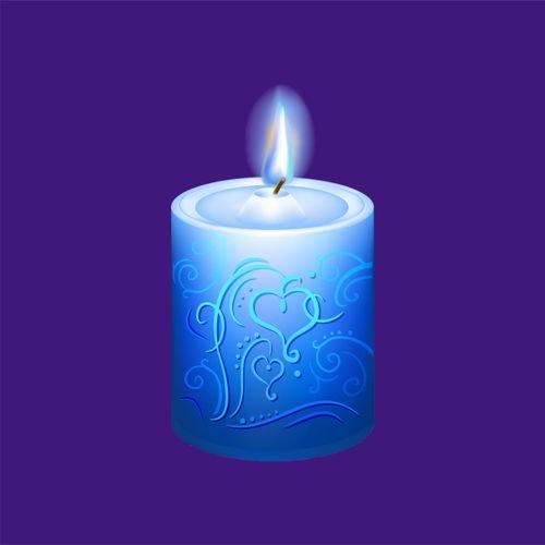 Свеча 3 - синяя