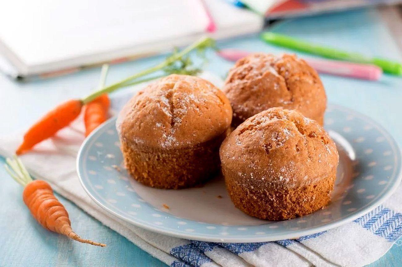 Морковно-ореховые кексы