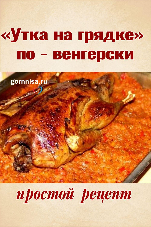 «Утка на грядке» по - венгерски