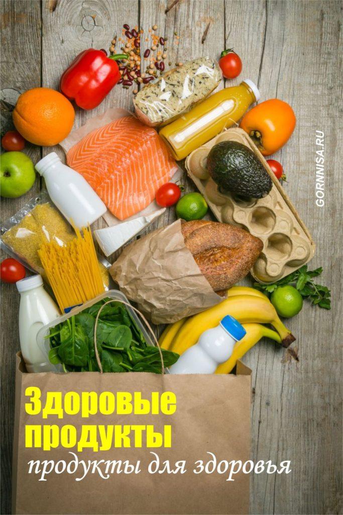 Здоровые продукты - продукты для здоровья
