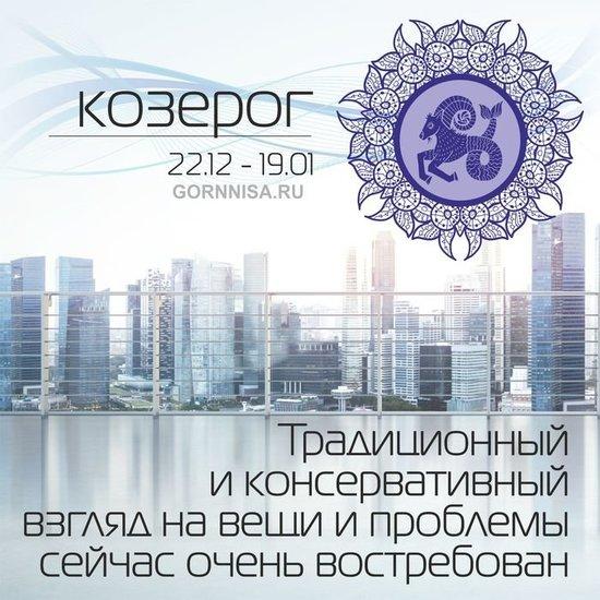 Козерог 22.12 - 19.01