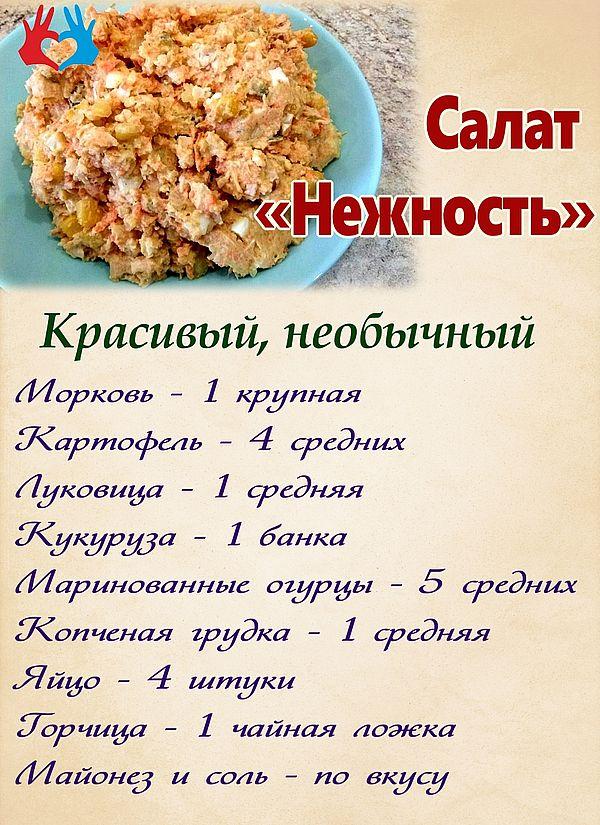 Раскладка на рецепт