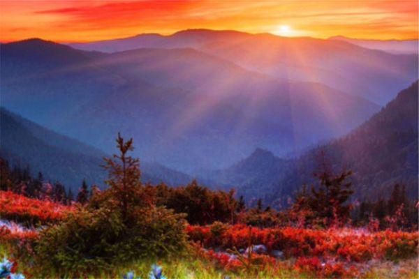 #4 Солнце на закате