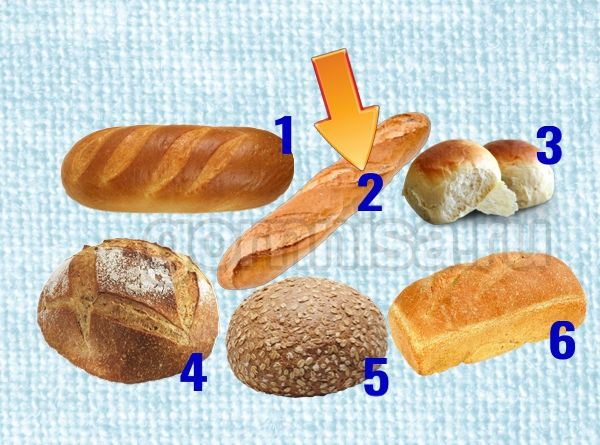 Тест личности - Выберите хлеб https://gornnisa.ru/ 2 - Багет
